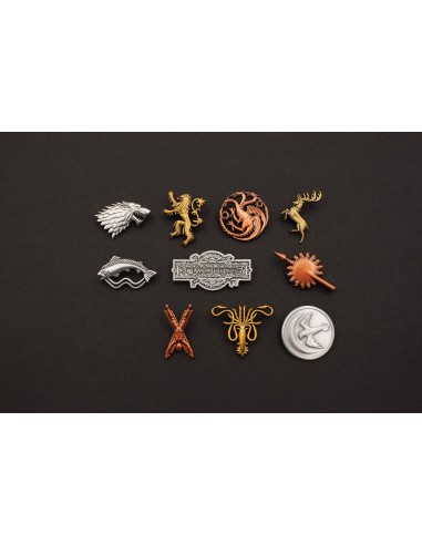 Game of Thrones - GOT Ansteck-Pin 10er-Pack Häuser & Logo