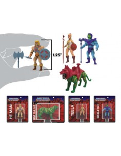 World's Smallest Toys - Masters of the Universe Micro Actionfiguren-Set (4er)