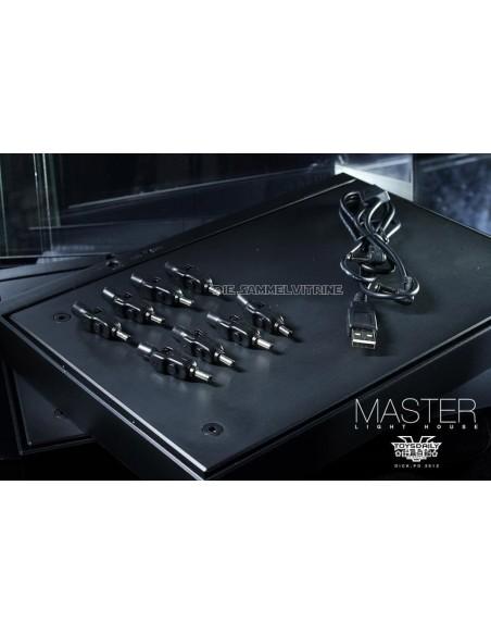 Master Light House Acryl Display Case mit Beleuchtung für 1/6 Actionfiguren (schwarz)